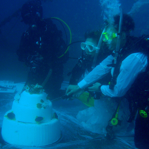 Many S Around The World Are Getting Married Underwater From Sea To Shark Tanks It Becoming A Por Way Tie Knot