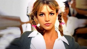 Britney Spears with pigtails